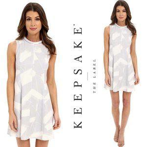 KEEPSAKE Sun Up shift style mini gray dress size M